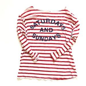 🆕 Anthropologie Sundry Saturday Sunday Top